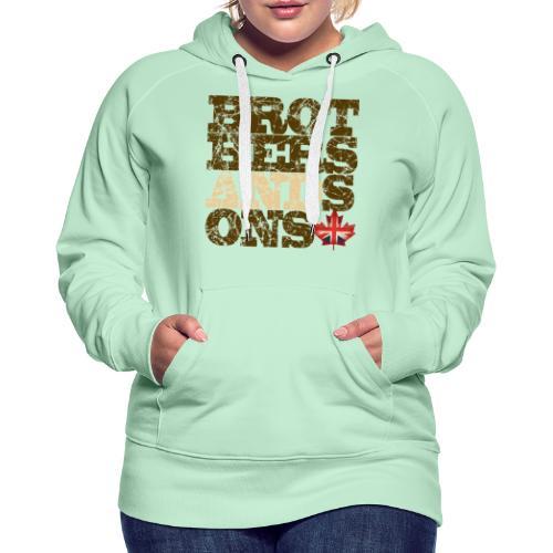 Brothers and Sons logo - dark design - Women's Premium Hoodie