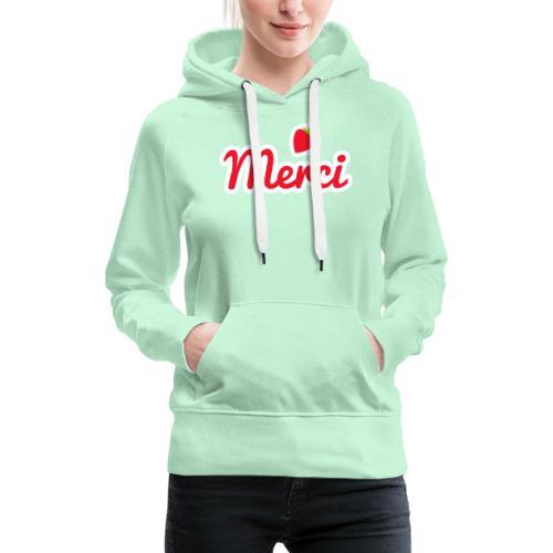 Merci à personnaliser - Sweat-shirt à capuche Premium pour femmes