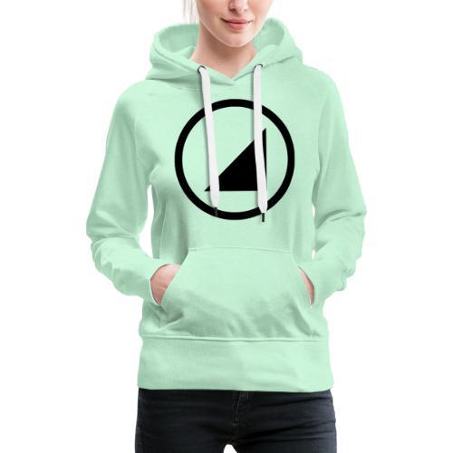 bulgebull marca oscura - Sudadera con capucha premium para mujer
