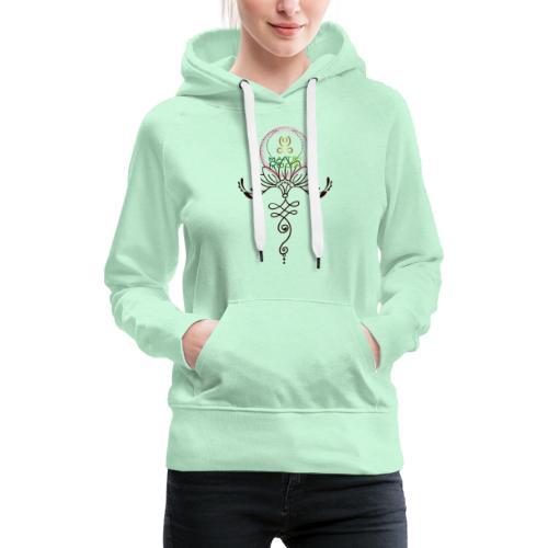 Lotus Unalome MaitriYoga - Sweat-shirt à capuche Premium pour femmes