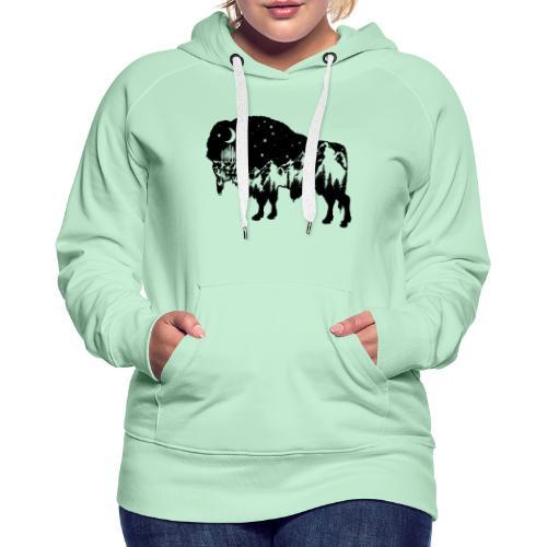 Die wilde Natur im Bison - Frauen Premium Hoodie