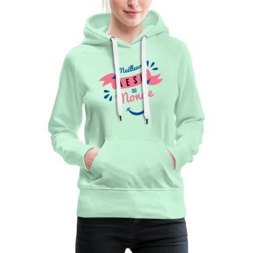 Meilleure AESH du Monde - Sweat-shirt à capuche Premium pour femmes