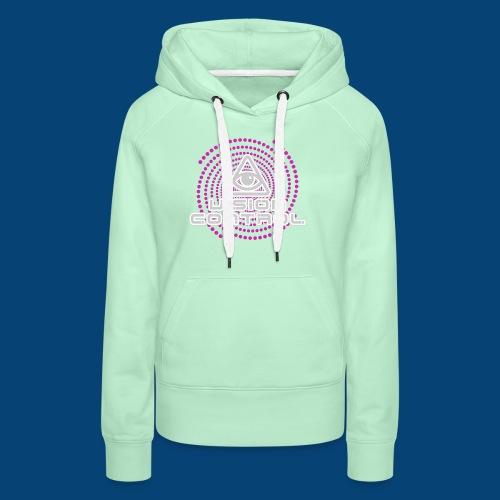 Vision Control Basic Logo Grey Pink Pattern - Frauen Premium Hoodie