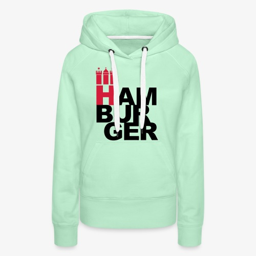 HAMBURGER 2c Hamburg Wappen - Frauen Premium Hoodie