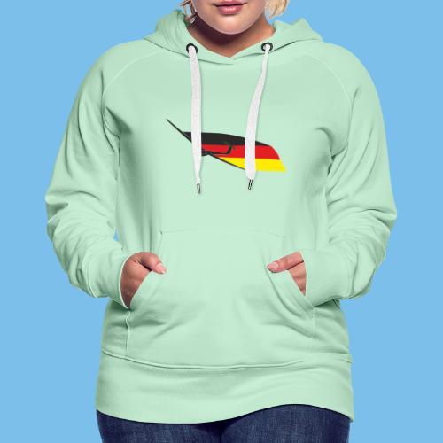 deutschlandflagge segelflugzeug Segelflieger - Frauen Premium Hoodie