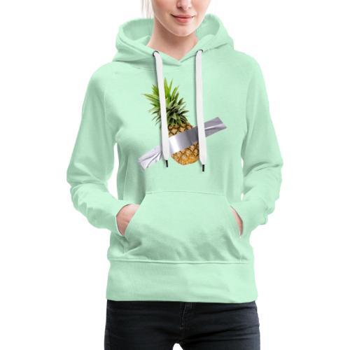Pineapple Art - Felpa con cappuccio premium da donna