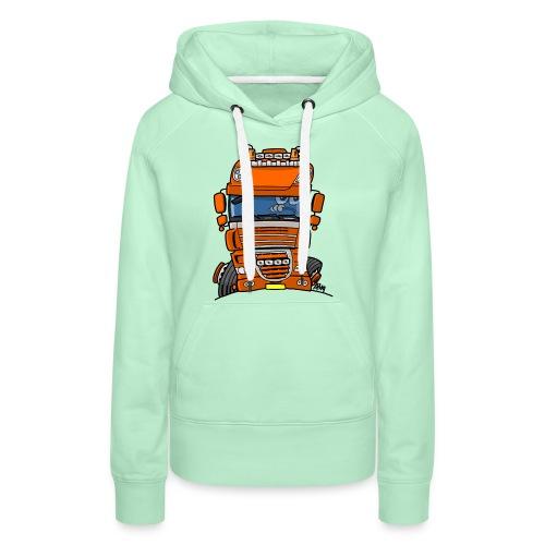0793 D truck - Vrouwen Premium hoodie