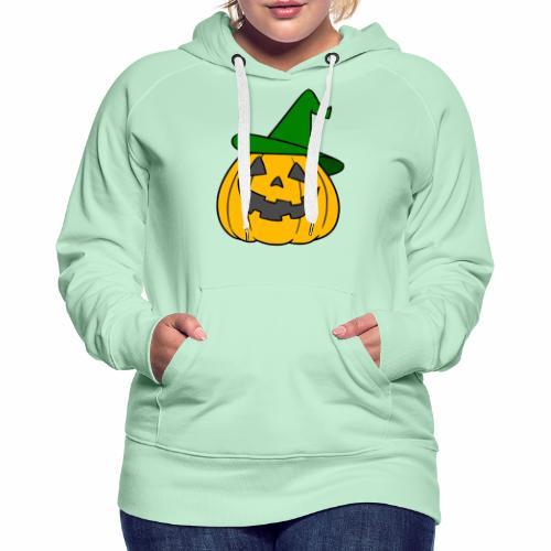 Halloween citrouille - Sweat-shirt à capuche Premium pour femmes