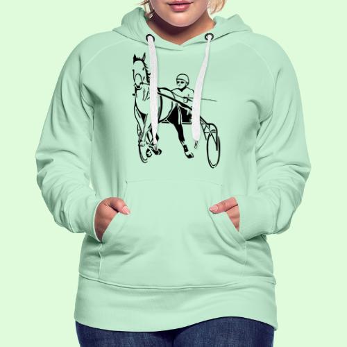 Le Trotteur Français - Sweat-shirt à capuche Premium pour femmes