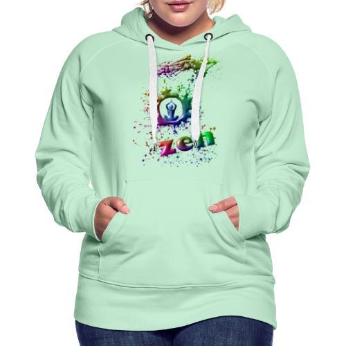 motif zen - Sweat-shirt à capuche Premium pour femmes