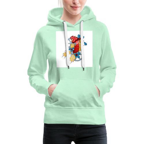logo carpe mecanique - Sweat-shirt à capuche Premium pour femmes