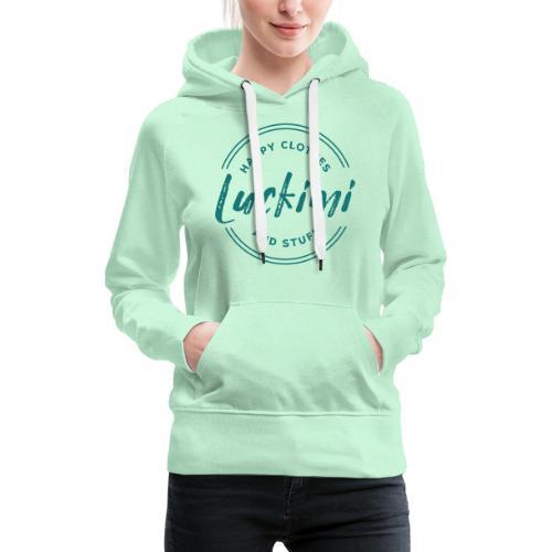 Luckimi logo circle - Women's Premium Hoodie