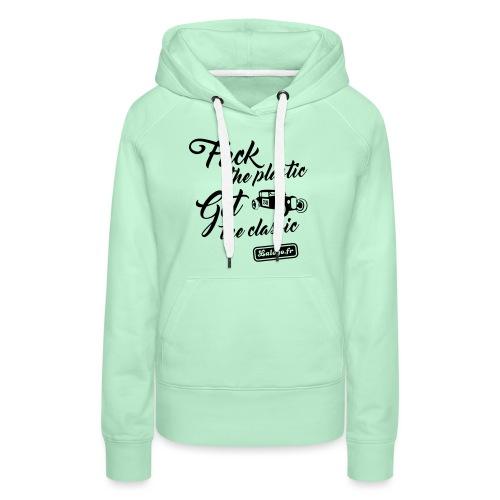 Fuck The Plastic - Get the Plastic - Sweat-shirt à capuche Premium pour femmes