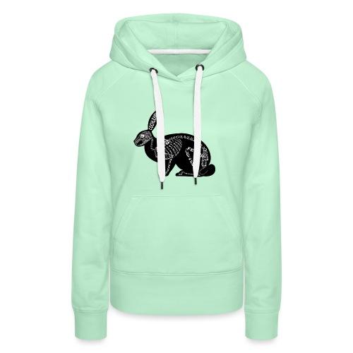 konijn skelet - Vrouwen Premium hoodie