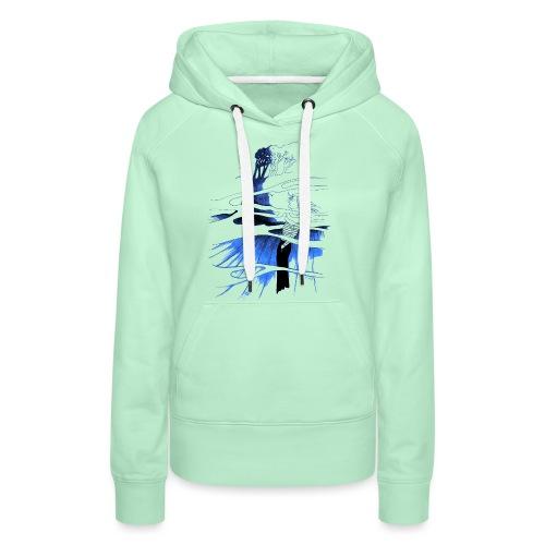 Ein Ort (blau) - Frauen Premium Hoodie