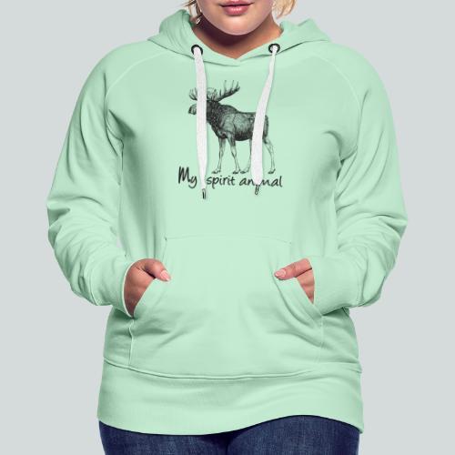 L'élan est mon animal totem - Sweat-shirt à capuche Premium pour femmes