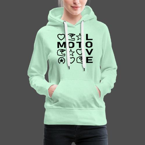 MOTO LOVE - Bluza damska Premium z kapturem