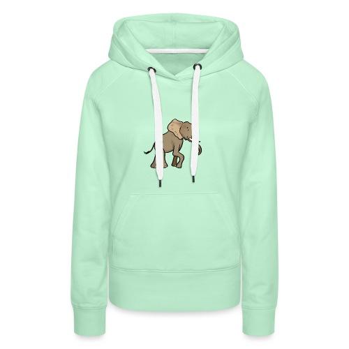 African Elephant - Bluza damska Premium z kapturem