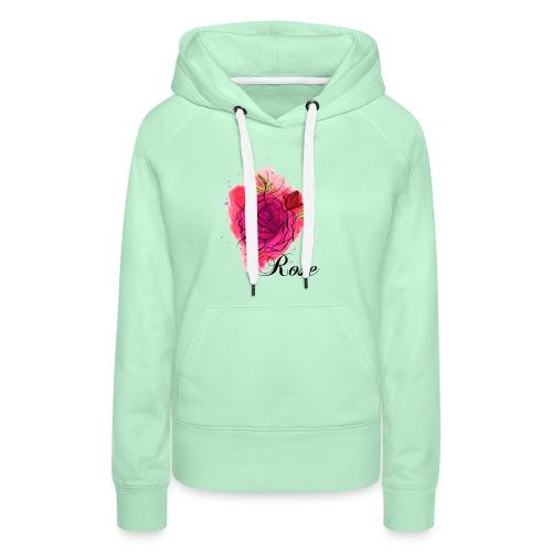 Rosen T-shirt Geschenk Aquarell - Frauen Premium Hoodie