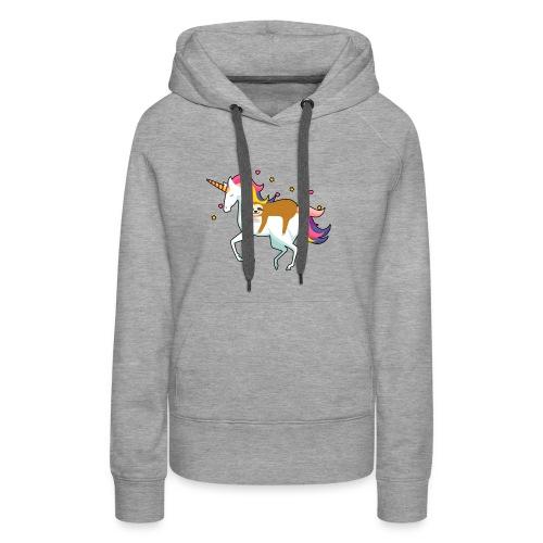 Funny Sloth Riding Unicorn - Frauen Premium Hoodie