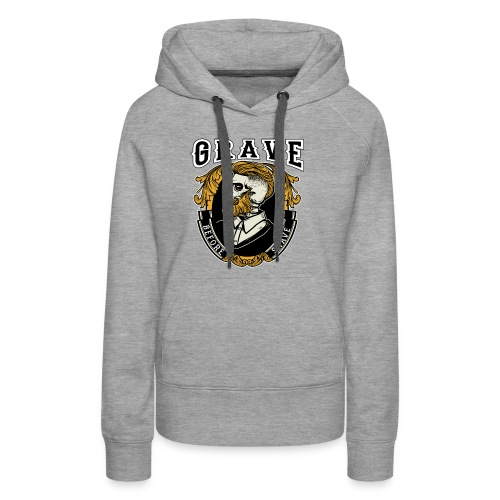 Grave Before Shave Bearded - Frauen Premium Hoodie
