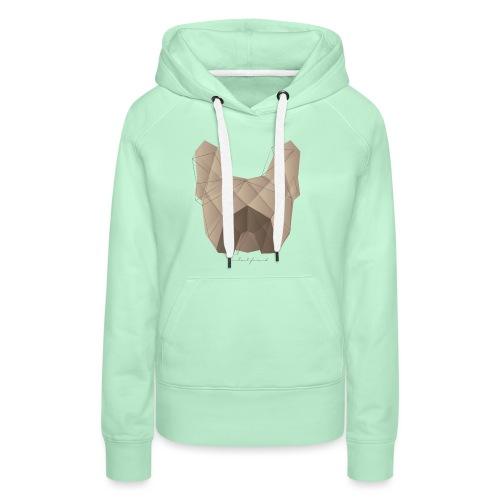 Geometric Frenchie fawn - Französische Bulldogge - Frauen Premium Hoodie