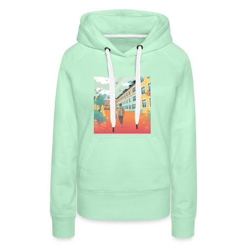 T-Shirt Vie À Saint André 108 - Sweat-shirt à capuche Premium pour femmes