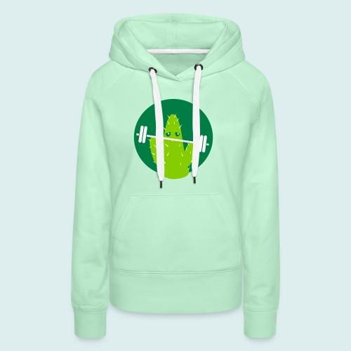 lifting cactus - Vrouwen Premium hoodie