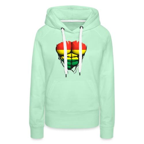 lituanie drapeau torse corps muscle abdo - Sweat-shirt à capuche Premium pour femmes