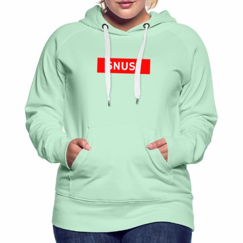 Snus - Frauen Premium Hoodie