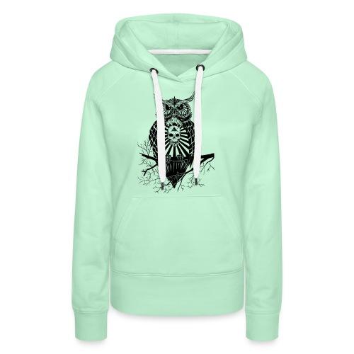 Hibou Psychédélique - Sweat-shirt à capuche Premium pour femmes