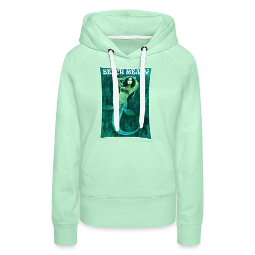 Vintage Pin-up Beach Ready Mermaid - Women's Premium Hoodie