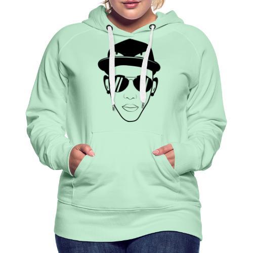 adhex cara - Sudadera con capucha premium para mujer