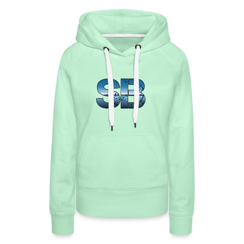 SB Logo - Dame Premium hættetrøje