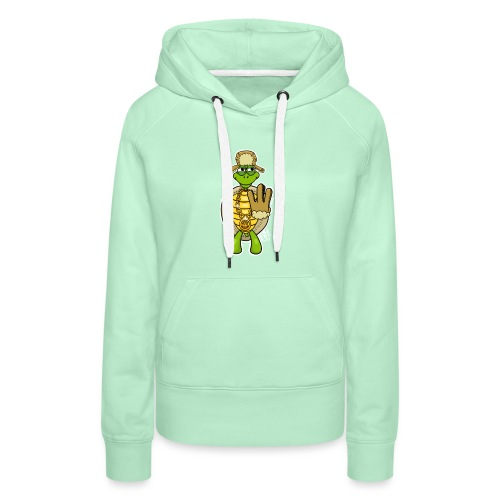 Winter West Coast Schildkröte / Hip-Hop Turtle - Frauen Premium Hoodie