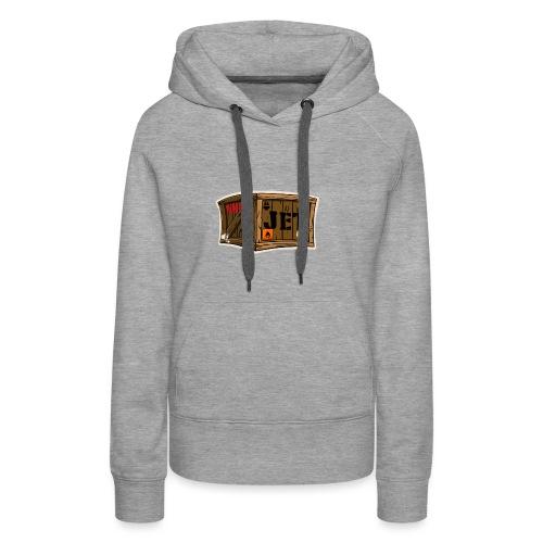 Jet Cartoon Wood Box - Frauen Premium Hoodie