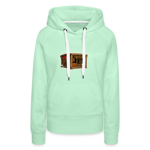 Jet Cartoon Wood Box - Frauen Premium Hoodie