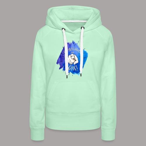 shirt blau tshirt druck - Frauen Premium Hoodie