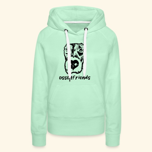 Logo NERO TRASPARENTE creative - Felpa con cappuccio premium da donna