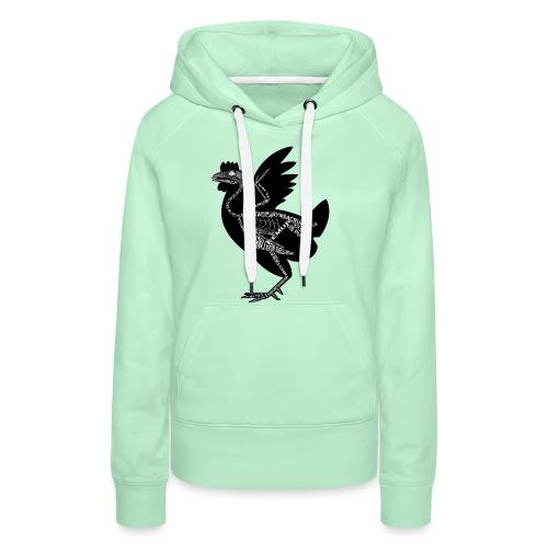 Huhn-Skelett - Sweat-shirt à capuche Premium pour femmes