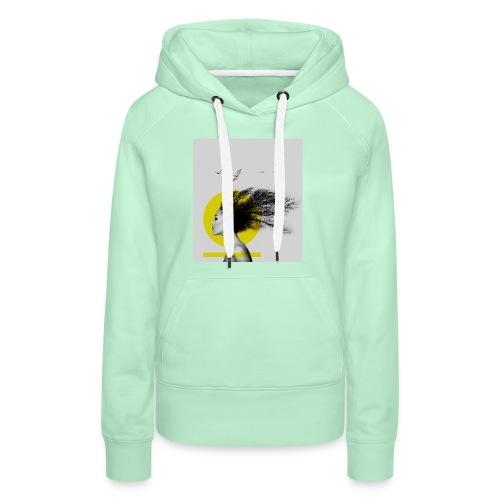 mama afrika - Sweat-shirt à capuche Premium pour femmes