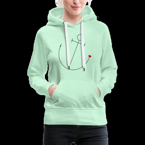 Anker mit Herz - Frauen Premium Hoodie