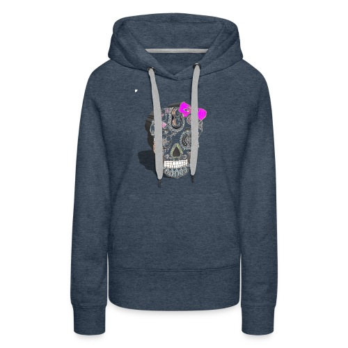 Tête de mort mexicaine 3D - Sweat-shirt à capuche Premium pour femmes