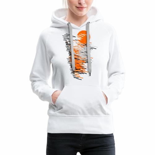 Black And Orange - Women's Premium Hoodie