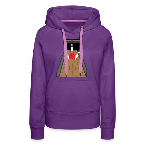 La piste de Bowling - Sweat-shirt à capuche Premium pour femmes