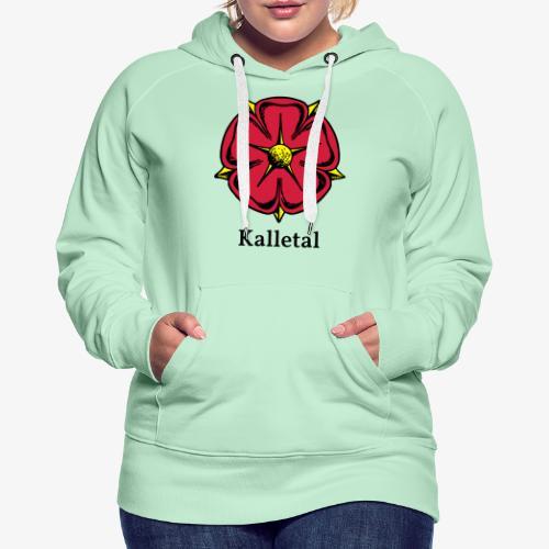 Lippische Rose mit Unterschrift Kalletal - Frauen Premium Hoodie
