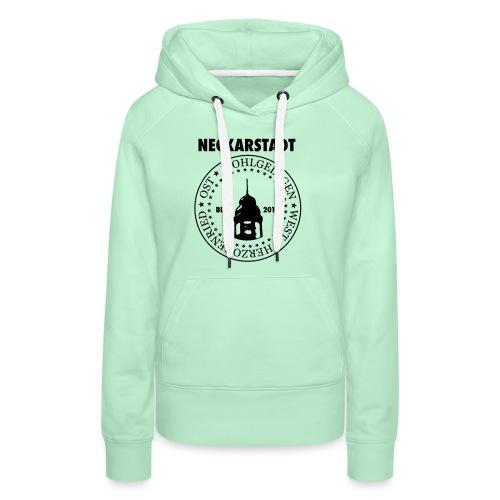 Neckarstadt Blog seit 2014 (Logo dunkel) - Frauen Premium Hoodie