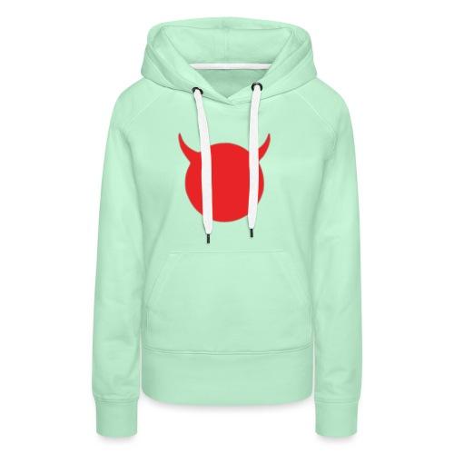 diable tete - Sweat-shirt à capuche Premium pour femmes