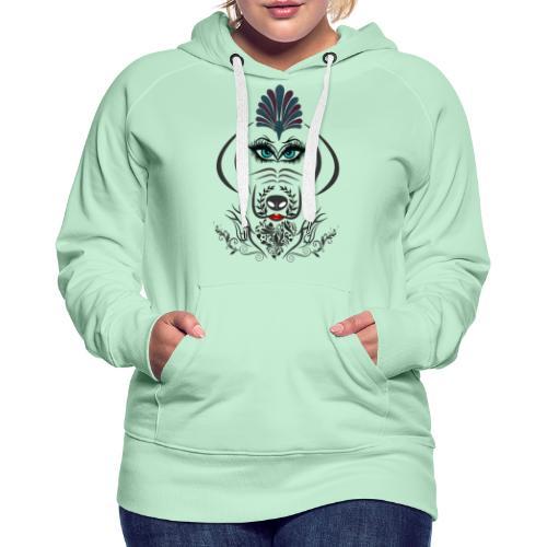 Hipster Dog Girl by T-shirt chic et choc - Sweat-shirt à capuche Premium pour femmes