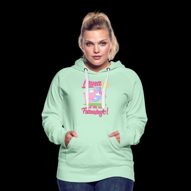 Kuscheliger Pullover mit U Boot Ausschnitt und Flamingo Motiv für Frauen